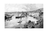 Brisbane from Bowen Terrace, 1886 Giclee Print