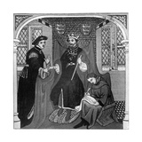 Edward III and the Earl of Flanders, 14th Century Giclee Print