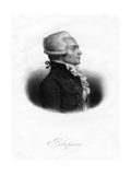 Maximilien Robespierre, One of the Leaders of the French Revolution, 1845 Giclee Print by  Freeman