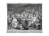 Revelling with Harlots, Plate III of a Rake's Progress, 1735 Giclee Print by William Hogarth