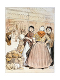 Scene at Covent Garden Fruit and Vegetable Market, London, Early 20th Century Giclee Print