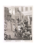 First Stage of Cruelty, Plate I from the Four Stages of Cruelty, 1751 Giclee Print by William Hogarth