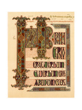 Initial Page from the Lindisfarne Gospels, Late 7th or Early 8th Century Giclee Print