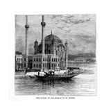 The Sultan at the Mosque of St Sophia, Constantinople, Turkey, 19th Century Giclee Print