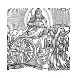 Ezekiel's Vision of Chariot in Sky, C614 BC Giclee Print