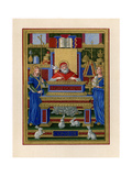 St Gregory the Great Receiving Inspiration from the Holy Spirit, C1490 Impression giclée