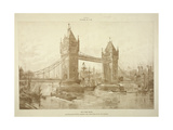 View of Tower Bridge, London, C1964 Giclee Print