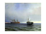 Capture of the Turkish Military Transport 'Messina, 13th December 1877 Giclee Print by Ivan Konstantinovich Aivazovsky