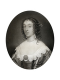 Mary Cromwell, Countess Fauconberg, Third Daughter of Oliver Cromwell, 17th Century Giclee Print by Cornelius Janssen van Ceulen