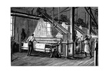 Weaving Shed Fitted with Jacquard Power Looms, C1880 Giclee Print