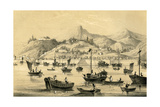 Shanghai, One of the Five Ports Opened by the Late Treaty to British Commerce, 1847 Giclee Print