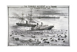 Sinking of the 'Princess Alice' on the River Thames, 1878 Giclee Print