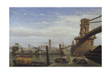 Hungerford Pier and Footbridge, C1850 Giclee Print