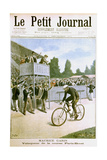 Maurice Garin Winning the Paris-Brest Cycle Race, 1901 Giclee Print