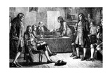 A Meeting of the Royal Society in Crane Court, Fleet Street, London, 18th Century Giclee Print