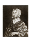 Elizabeth Steward, Mother of Oliver Cromwell, 17th Century Giclee Print by Robert Walker