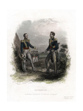 Meeting Between Generals San Martin and Bolivar, Guayaquil, Ecuador, 1822 Giclee Print by  Levy