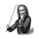 Niccolò Paganini, Italian Violinist, Violist and Composer, 1830s Giclee Print