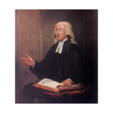 John Wesley, 18th Century English Non-Conformist Preacher Lámina giclée por William Hamilton