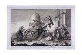 The Exercise of See Saw, Vauxhall Gardens, Lambeth, London, C1745 Giclee Print by Francis Hayman