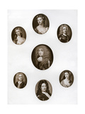 Group of Portraits, Late 17th - Early 18th Century Giclee Print by Christian Friedrich Zincke