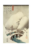 A Mountain Stream in Snow, 19th Century Giclee Print
