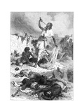 The Suicide of Theodore, Magdala, Ethiopia, 1868 Giclée-tryk