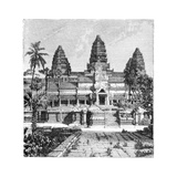 Th Chief Façade of the Temple at Angkor-Wat, Cambodia, 1895 Giclee Print