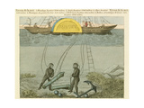 Divers Salvaging Guns from the Seabed, C1855 Giclee Print
