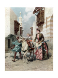 The Egyptian Quarter at the Universal Exposition, Paris, 1889 Giclee Print
