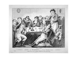 Son's of Harmony - Scene Chandois Street, 1801 Giclee Print by Isaac Cruikshank