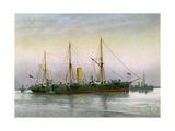 HMS Mohawk, Royal Navy 3rd Class Cruiser, C1890-C1893 Giclee Print