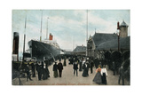 Steamship SS 'Celtic' at the Quayside, Liverpool, Lancashire, C1904 Giclee Print