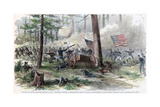 Battle of Bentonville, North Carolina, American Civil War, March 1865 Giclee Print