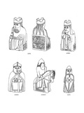 Bone Chessmen of Scandinavian Design, 12th or 13th Century Giclee Print