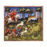 Deer Hunt, 15th Century Gicléedruk