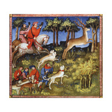 Deer Hunt, 15th Century Giclee Print