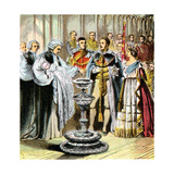 Baptism of Prince of Wales, 1842 Giclee Print