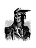 Tecumseh (C1768-181), Native American Chief of the Shawnees Giclee Print