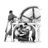 Worsted Manufacturing, C1845 Giclee Print