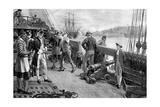 Nelson's First Footing in the Navy, Chatham, 1771 Giclee Print by Thomas Davidson
