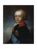 Portrait of Grand Duke Pavel Petrovich, (1754-180), Late 18th Century Giclee Print by Jean Louis Voille