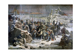 Marshall Ney During the Retreat from Russia, 1894 Giclee Print by Adolphe Yvon