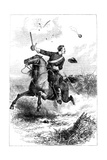 Captain Northrop Leading the Attack at Knoxville, Tennessee, American Civil War, 1863 Giclee Print