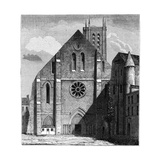 Façade of the Ancient Church of the Abbey of Sainte-Geneviève, Paris, France ,1849 Giclee Print