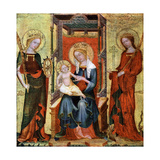 Madonna Between St Catherine and Margaret, C1360 Giclee Print