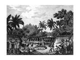 James Cook, English Navigator, Witnessing Human Sacrifice in Taihiti (Otaheit) C1773 Giclee Print