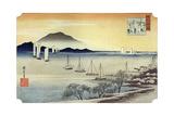 Yabase No Kihan. Fishing Boats Returning to Yabase, C1834 Giclee Print by Ando Hiroshige