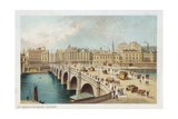 Telford's Bridge over the Clyde at Broomielaw, Glasgow, 1891 Giclee Print