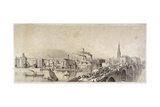 Blackfriars Bridge, London, 1835 Giclee Print